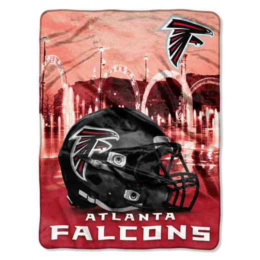 1NFL071030012RET: NW NFL HERITAGE SILK THROW, FALCONS